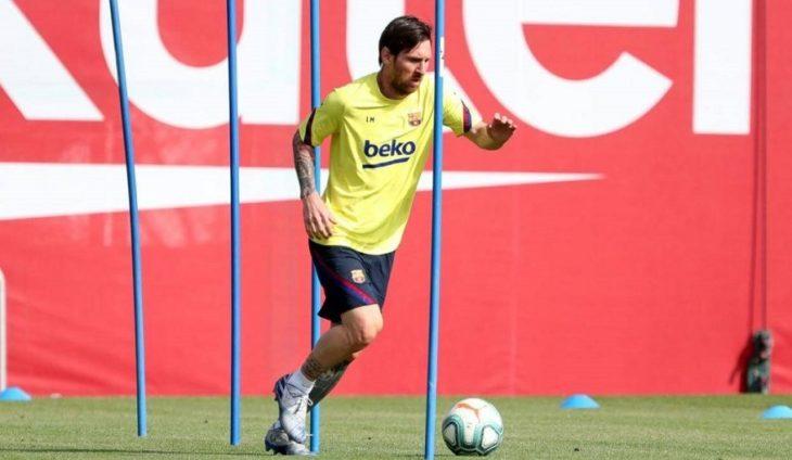 Coronavirus: Lionel Messi volvió a entrenarse en el Barcelona después de dos meses y bajo un estricto protocolo
