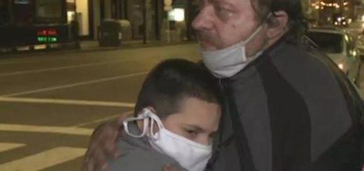 Su esposa murió, perdió el trabajo en la cuarentena y quedó en la calle con su hijo de 10 años