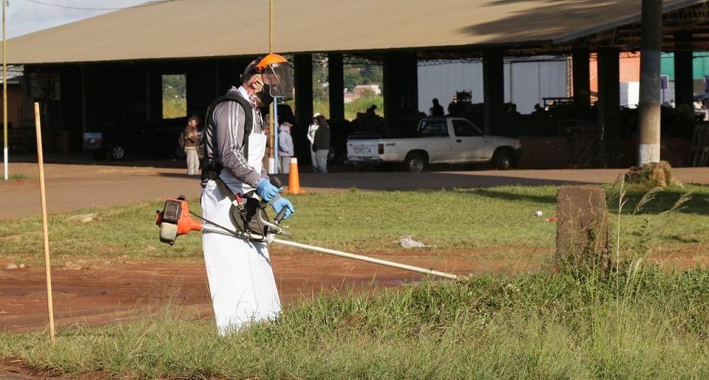 Vialidad Provincial realizó limpieza, fumigación y desinfección en el Mercado Central de Posadas