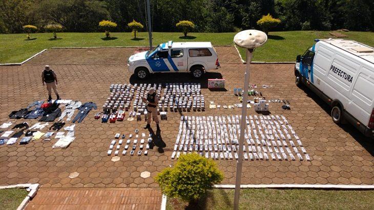 Prefectura incautó objetos de contrabando valuados en más de dos millones de pesos en Puerto Iguazú