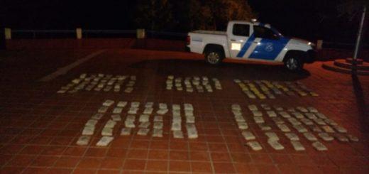 Prefectura secuestró 86 kilos de marihuana y detuvo a dos hombres en Santa Ana