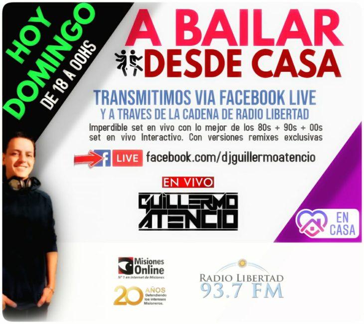 Hoy volvemos #ABailarDesdeCasa con Dj Guillermo Atencio