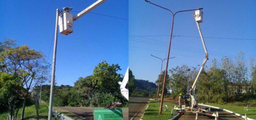 Vialidad Provincial reacondicionó luminarias LED en Ruta Provincial Nº6 y en accesos a municipios