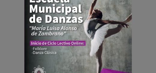 La Escuela Municipal de Danzas de Posadas inicia el ciclo lectivo con modalidad online