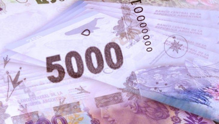 El Banco Central evalúa emitir un billete de 5.000 pesos