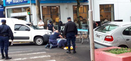 Una mujer fue atropellada en el centro de Posadas cuando cruzaba la senda peatonal