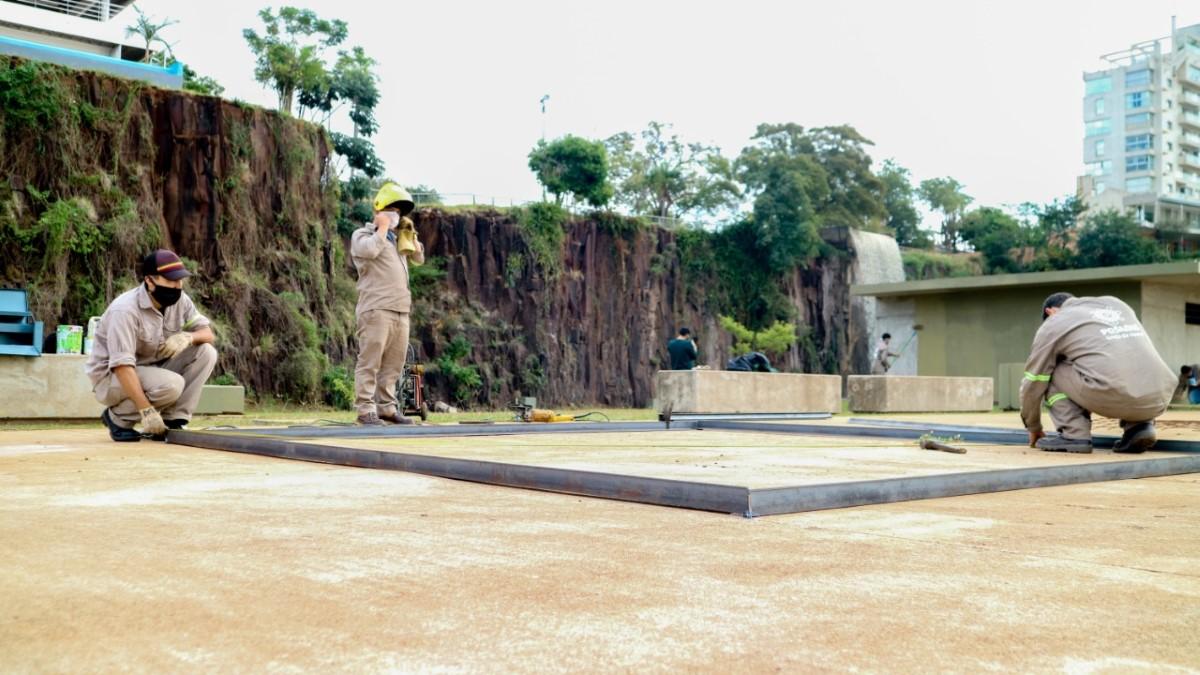 Remodelaron la Cascada artificial ubicada en la Costanera de Posadas