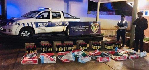 La Policía secuestró caña de origen brasileño que contrabandistas intentaron ingresar al país por el río Uruguay