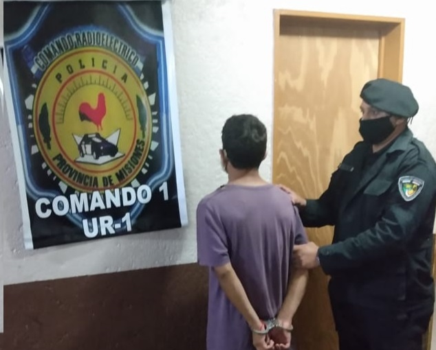 Un joven terminó detenido en Posadas por desobedecer la prohibición de acercamiento hacia su ex pareja y agredirla
