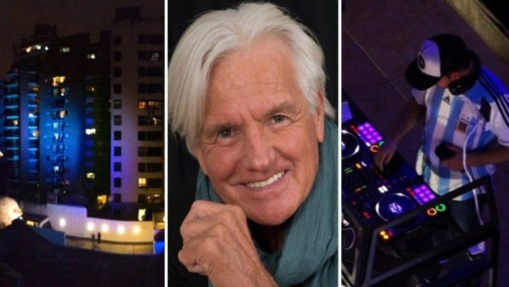 Vecinos homenajearon a Sergio Denis bailando sus más grandes éxitos en veredas y balcones