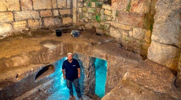 Descubrieron un complejo subterráneo de 2.000 años junto al Muro de los Lamentos