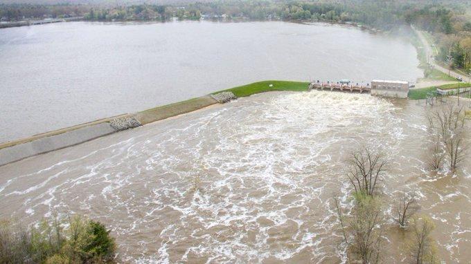 EEUU: en Michigan, dos represas colapsaron por la constante lluvia y evacuaron a miles de personas en el centro del estado