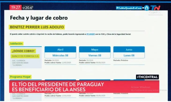 Denuncian que el tío del Presidente de Paraguay es beneficiario del IFE
