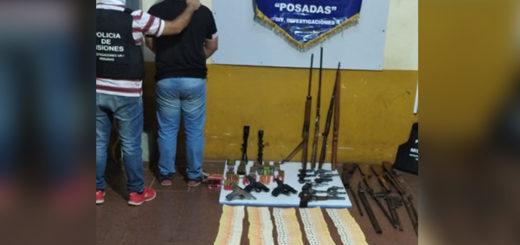 Detuvieron en Posadas a un hombre con un arsenal de armas presuntamente robadas