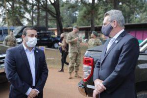 #Coronavirus: El ministro de Defensa de la Nación dijo que el gobernador de Misiones le planteó la necesidad de un patrullaje aéreo en la zona de frontera