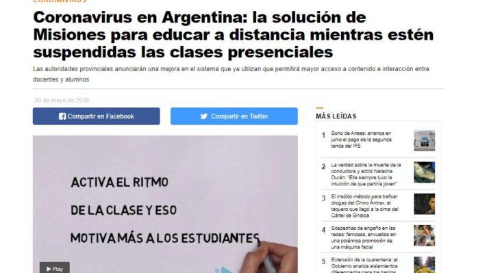 Coronavirus: medios nacionales destacan la solución de Misiones para mantener la educación y las clases en cuarentena