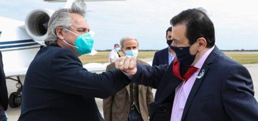 El Presidente visitó Santiago del Estero en su primer recorrido por el interior del país desde el aislamiento social
