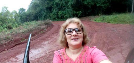 Héroes cotidianos: una docente rural de Montecarlo se traslada diariamente a 2 km de su casa para conseguir conectividad y acercar las tareas a sus alumnos