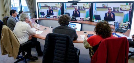 El Presidente se reunió vía teleconferencia con gobernadores antes de anunciar la extensión de la cuarentena