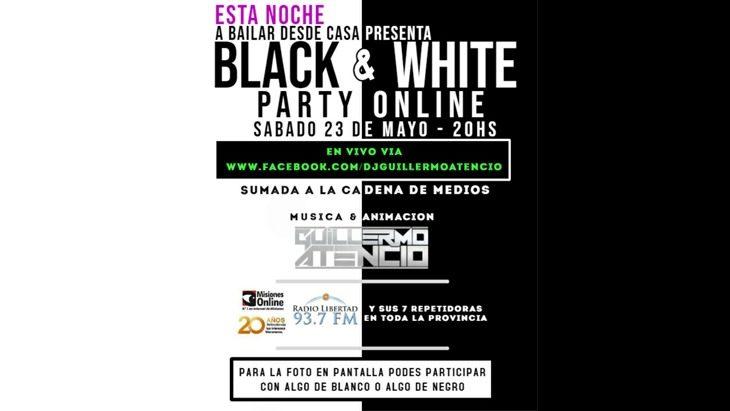 Esta noche llega #Black&White, Fiesta Online para bailar desde casa a través de Radio Libertad