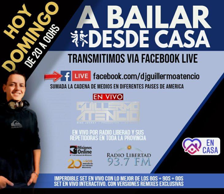 #FiestasOnline: esta noche bailamos en casa con Dj Guillermo Atencio