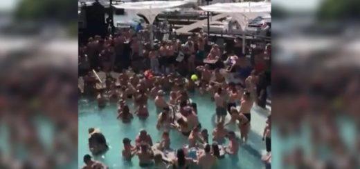 Indignante: realizaron una multitudinaria fiesta en una piscina de EEUU en plena pandemia