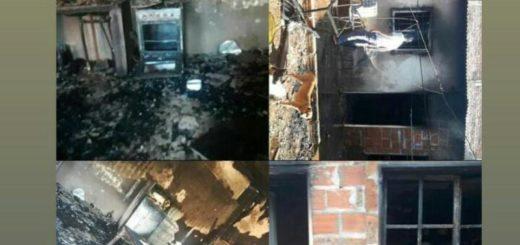Se incendió una vivienda en Posadas y una pareja junto a sus hijos de 3 años y 5 meses perdieron todo lo que tenían