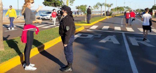 La Policía de Misiones con 300 efectivos controló y acompañó las caminatas en toda la provincia