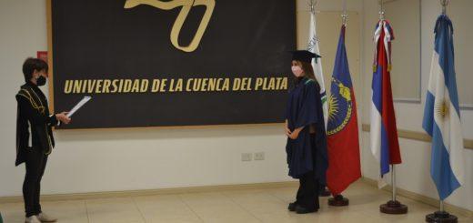 Se realizó la entrega de diplomas de grado en la Universidad de la Cuenca del Plata sede Posadas