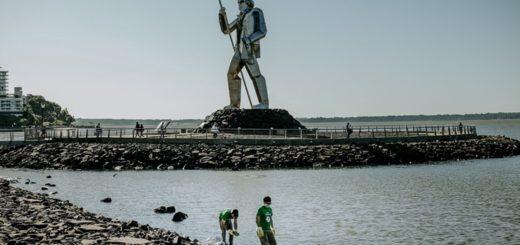 Extraen más de 93 toneladas de residuos de la costa posadeña del Paraná