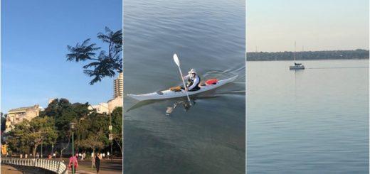 El río y la Costanera de Posadas volvieron a recibir deportistas tras la habilitación de varias actividades
