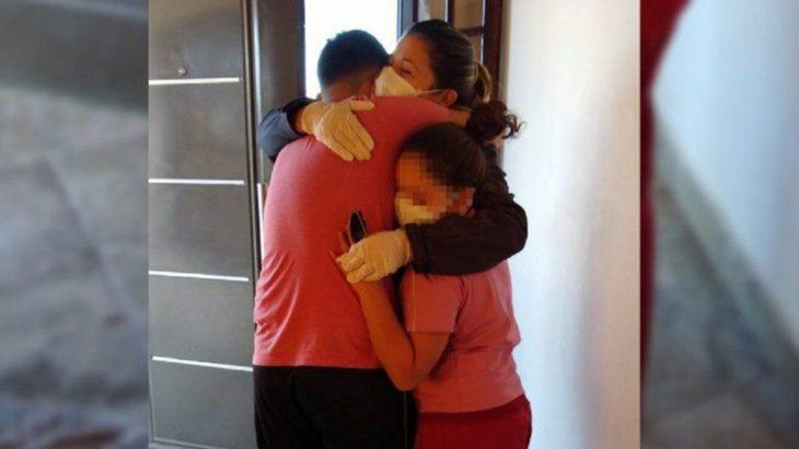 Neuquén: superó el coronavirus y volvió a abrazar a sus hijos tras 70 días