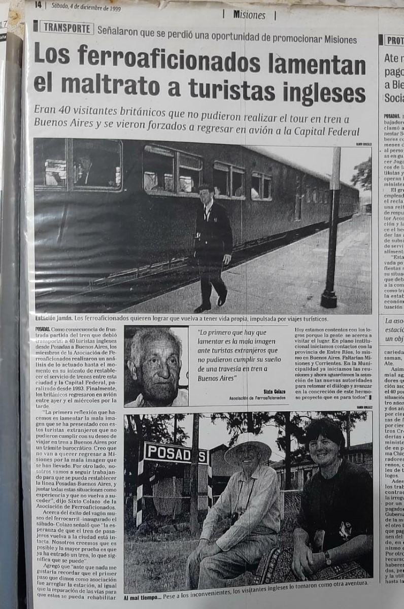 """""""Yo viajé en el Gran Capitán"""": historias y recuerdos en primera persona del tren que unió la Mesopotamia y marcó generaciones"""