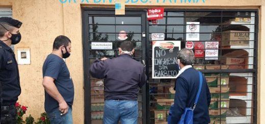 Coronavirus: la Policía clausuró en Posadas un maxi quiosco, un puesto de venta de pollos y un mercado por no reunir las condiciones sanitarias
