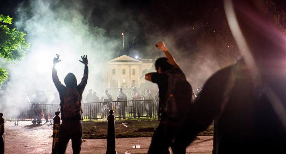 Donald Trump fue protegido en el búnker de la Casa Blanca ante la escalada de violencia en Estados Unidos
