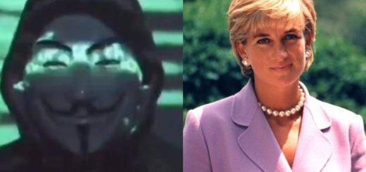 Anonymous reveló la presunta razón de la muerte de Lady Di