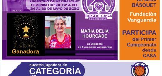 Una misionera ganó el primer lugar del campeonato virtual de Maxibásquet