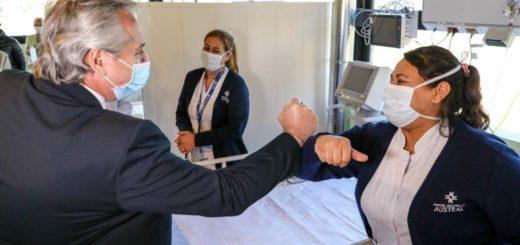 Coronavirus: el Presidente encabezó la puesta en marcha del Hospital Solidario COVID-19 Austral en Buenos Aires