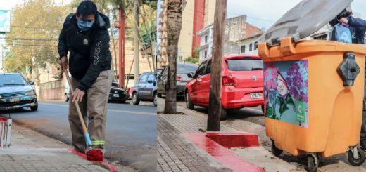 En Posadas señalizaron las dársenas de las calles Junín y Buenos Aires