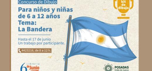 En Posadas, invitan a participar de concurso de dibujo por el Día de la Bandera