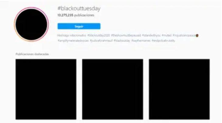 #BlackoutTuesday: el apagón en las redes por el asesinato de George Floyd