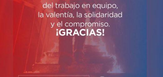 El gobernador de Misiones Oscar Herrera Ahuad saludó a los bomberos voluntarios en su día
