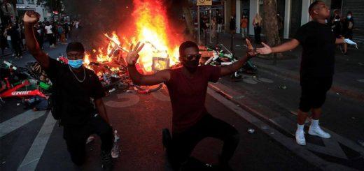 Incidentes en París en una marcha contra el racismo y la violencia policial