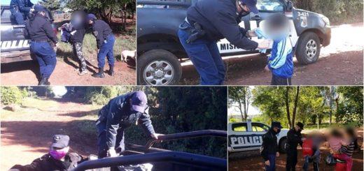Policías solidarios entregan donaciones a familias de barrios carenciados