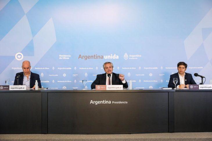 Alberto Fernández: «Donde no hay circulación comunitaria se pasará del aislamiento al distanciamiento social»