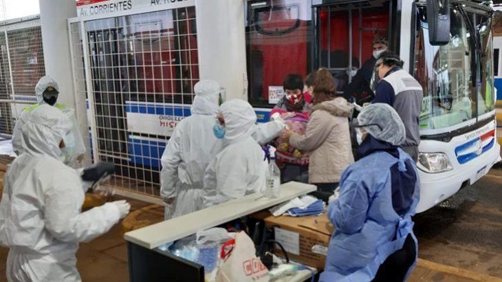 Operativo excepcional de repatriación: casi 200 misioneros ingresan hoy a Posadas desde Encarnación, Paraguay
