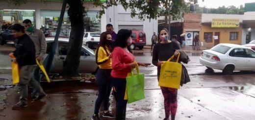 En Eldorado realizaron campañade concientización para reducir el uso de bolsas de polietileno