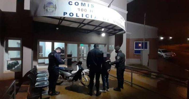 Oberá: intentó escapar con una moto robada y fue detenido