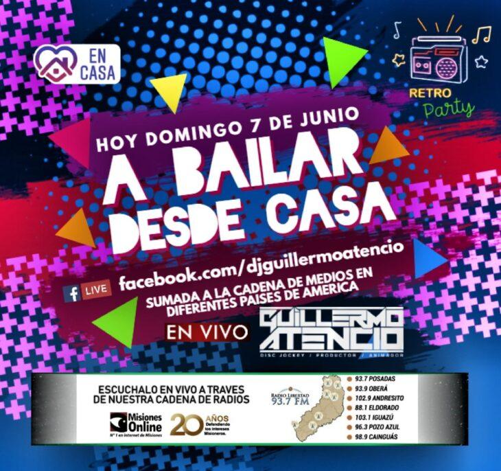 El Dj Guillermo Atencio le pone música a tu domingo y te invita #ABailarDesdeCasa