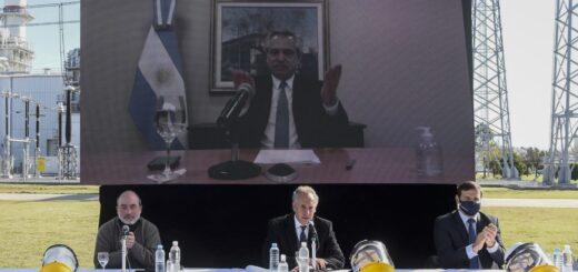El Presidente inauguró por videoconferencia la ampliación de una planta de generación termoeléctrica en Marcos Paz